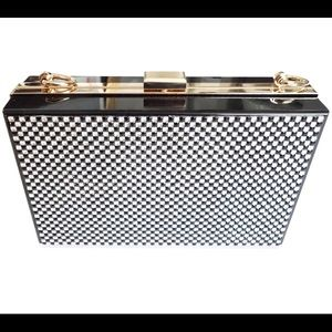 T&J Designs Bags - Black and silver crystal Hard-Case Clutch